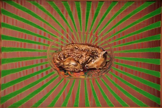 Claudia Perez Pavon - El ojo y el espiritu (front side) - 50 x 70 cm - 2012