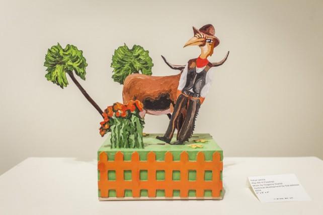 Yuliya Lanina, Cowboy, animatronic sculpture